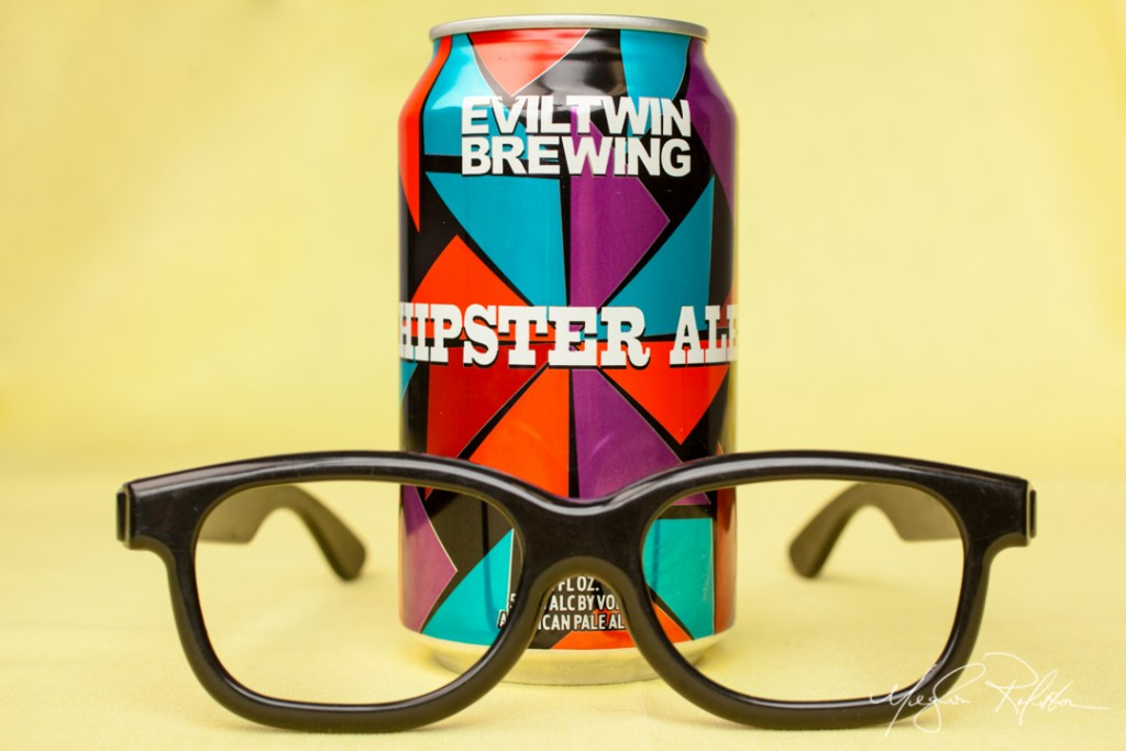 A can of Hipster Ale. Shot 07/23/14 in the Dispatch Studios for Alive Eat & Drink Distilled. (Meghan Ralston)