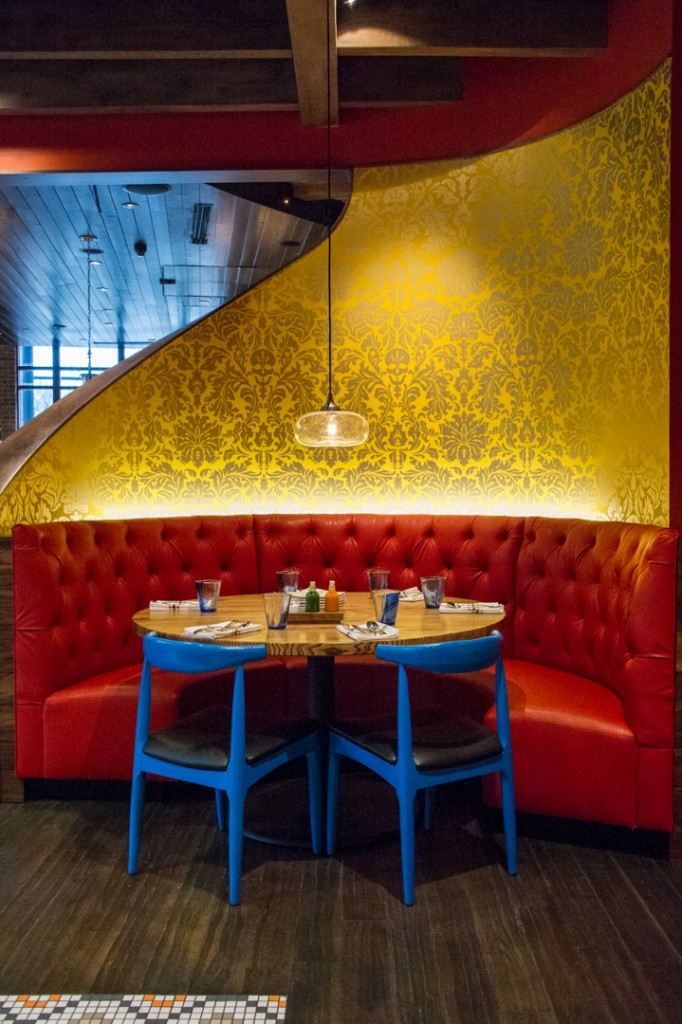 Seating at Nada. Shot 01/29/15 at Nada in the Arena District, Downtown Columbus for Alive Eat & Drink Feature. (Meghan Ralston)