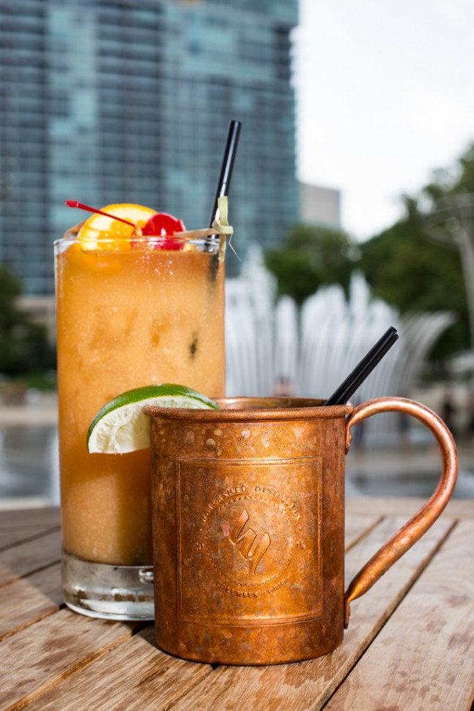Milestone Rum Punch and Milestone Mule by Milestone 229. Shot 06/18/15 at the Scioto Mile, Downtown Columbus, for Alive Eat & Drink Feature. (Meghan Ralston)